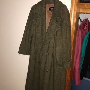 Ann Klein winter coat women's 14 100% wool vintage